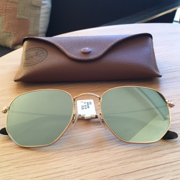7ae74d0f1d Ray-Ban Unisex Icons Mirrored Hexagonal Sunglasses